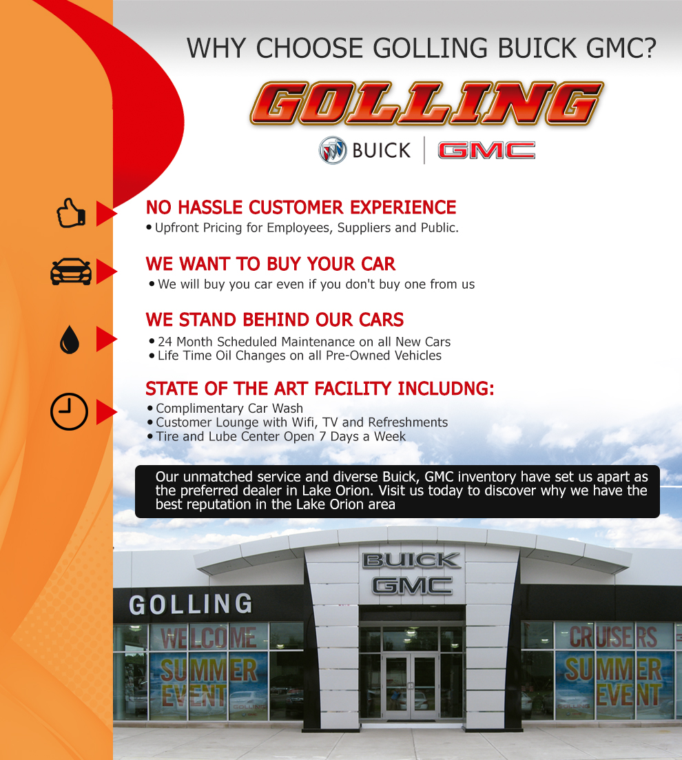 Golling Buick GMC Is A Lake Orion Buick, GMC Dealer And A