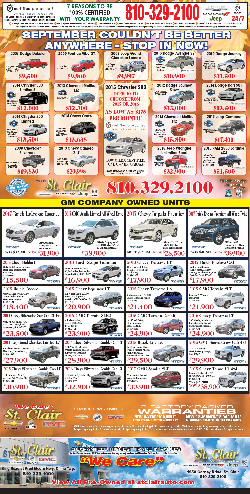 Our Used Car Specials